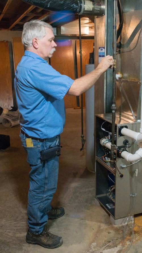 Modern HVAC Professionals at Work